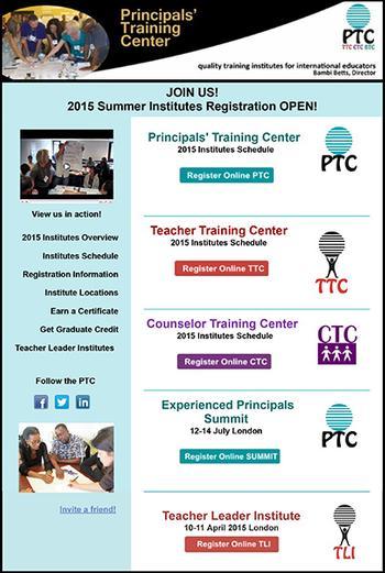 Open Registration for 2015 PTC Programs