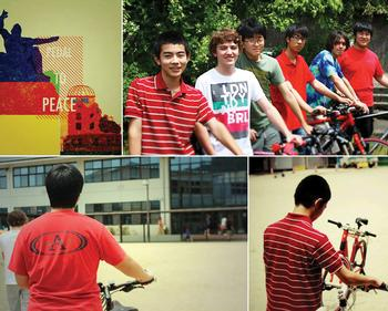 Pedaling towards Peace with 1,000 Paper Cranes