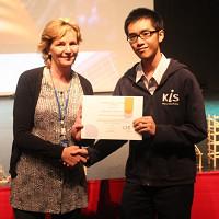 KIS Student wins CIS International Student Award 2016