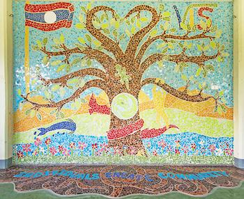 Creating Community With a Mosaic Mural at Vientiane International School
