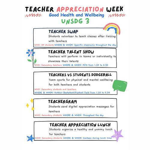 Teacher Appreciation Week Focuses on Teacher Wellbeing at UISG